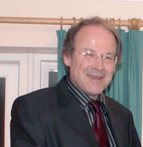 A photograph of the writer Paul D K